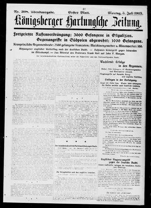 Königsberger Hartungsche Zeitung vom 05.07.1915