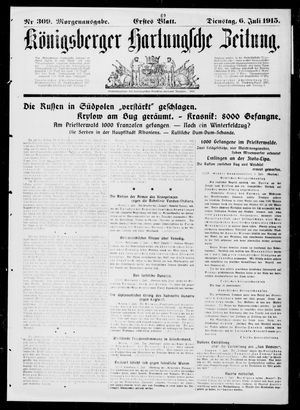 Königsberger Hartungsche Zeitung vom 06.07.1915