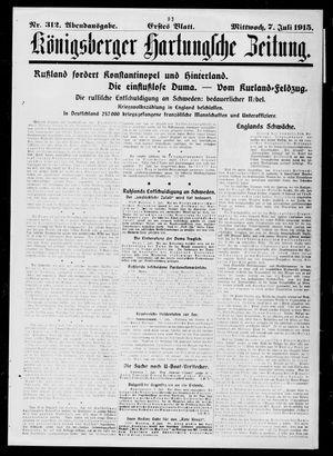 Königsberger Hartungsche Zeitung vom 07.07.1915