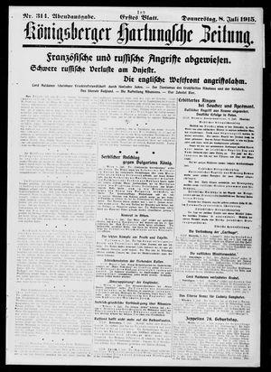 Königsberger Hartungsche Zeitung vom 08.07.1915