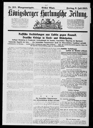 Königsberger Hartungsche Zeitung vom 09.07.1915