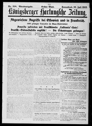 Königsberger Hartungsche Zeitung vom 10.07.1915