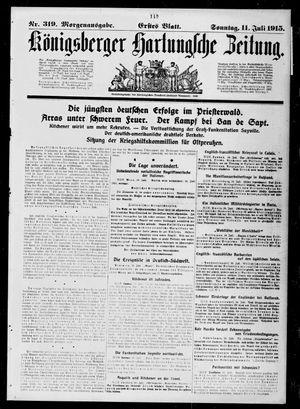 Königsberger Hartungsche Zeitung vom 11.07.1915