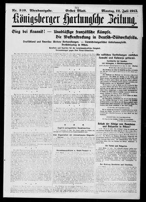 Königsberger Hartungsche Zeitung vom 12.07.1915