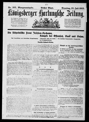 Königsberger Hartungsche Zeitung vom 13.07.1915