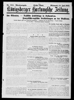 Königsberger Hartungsche Zeitung vom 14.07.1915