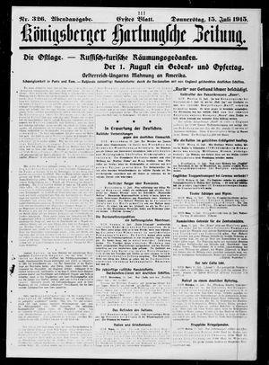 Königsberger Hartungsche Zeitung vom 15.07.1915