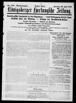 Königsberger Hartungsche Zeitung vom 16.07.1915