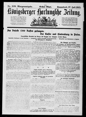 Königsberger Hartungsche Zeitung vom 17.07.1915