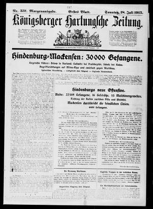 Königsberger Hartungsche Zeitung vom 18.07.1915