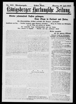 Königsberger Hartungsche Zeitung vom 19.07.1915