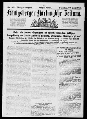 Königsberger Hartungsche Zeitung vom 20.07.1915