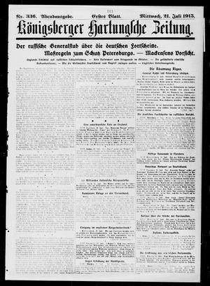 Königsberger Hartungsche Zeitung vom 21.07.1915