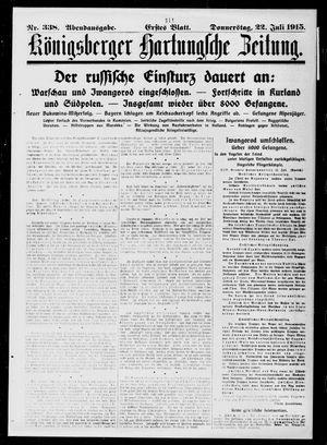 Königsberger Hartungsche Zeitung vom 22.07.1915
