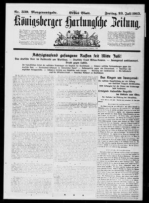 Königsberger Hartungsche Zeitung vom 23.07.1915