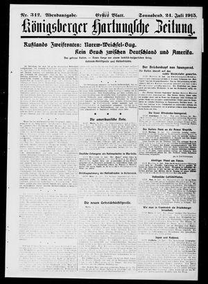 Königsberger Hartungsche Zeitung vom 24.07.1915