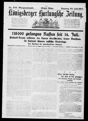Königsberger Hartungsche Zeitung vom 25.07.1915