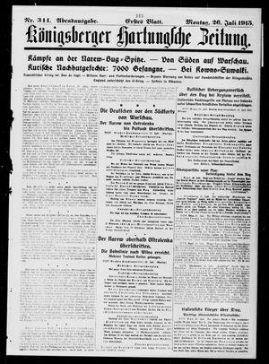 Königsberger Hartungsche Zeitung vom 26.07.1915