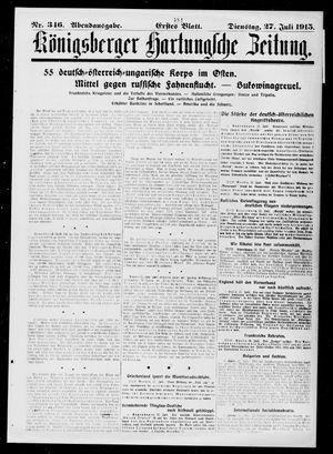 Königsberger Hartungsche Zeitung vom 27.07.1915