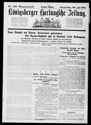 Königsberger Hartungsche Zeitung vom 29.07.1915