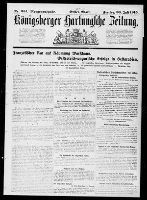 Königsberger Hartungsche Zeitung vom 30.07.1915