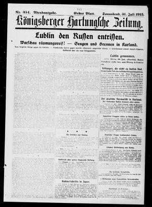 Königsberger Hartungsche Zeitung vom 31.07.1915