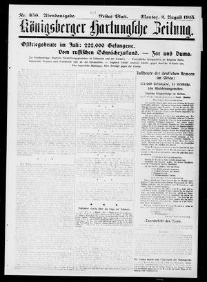 Königsberger Hartungsche Zeitung on Aug 2, 1915