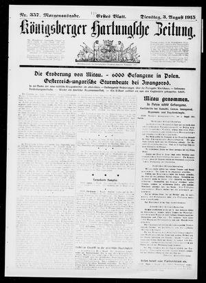 Königsberger Hartungsche Zeitung vom 03.08.1915