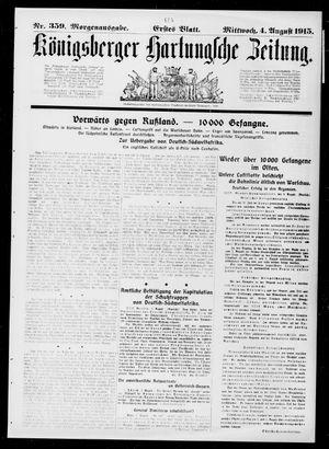 Königsberger Hartungsche Zeitung vom 04.08.1915