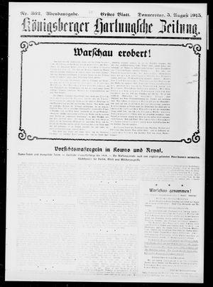 Königsberger Hartungsche Zeitung vom 05.08.1915