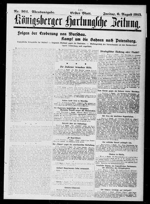 Königsberger Hartungsche Zeitung vom 06.08.1915