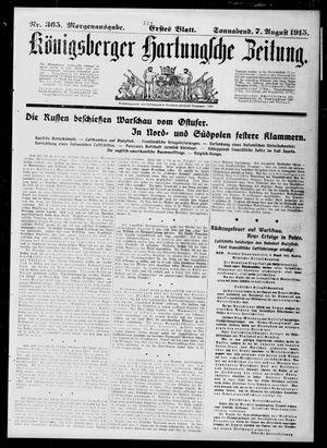 Königsberger Hartungsche Zeitung vom 07.08.1915