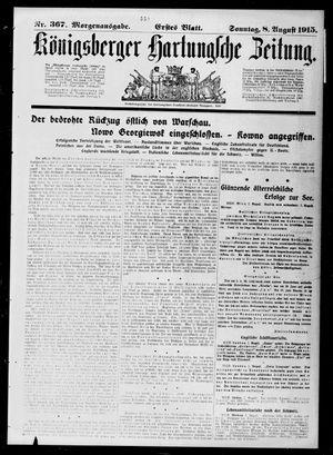 Königsberger Hartungsche Zeitung vom 08.08.1915