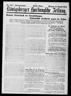 Königsberger Hartungsche Zeitung vom 09.08.1915