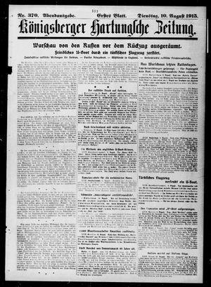 Königsberger Hartungsche Zeitung on Aug 10, 1915