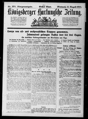 Königsberger Hartungsche Zeitung vom 11.08.1915