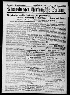 Königsberger Hartungsche Zeitung vom 12.08.1915