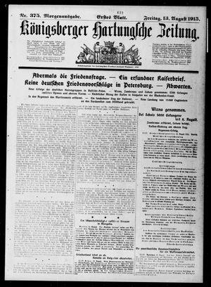 Königsberger Hartungsche Zeitung vom 13.08.1915