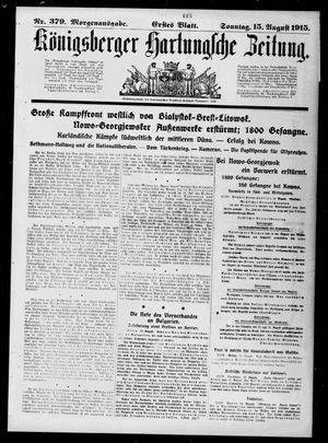Königsberger Hartungsche Zeitung vom 15.08.1915