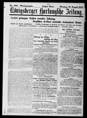 Königsberger Hartungsche Zeitung on Aug 16, 1915