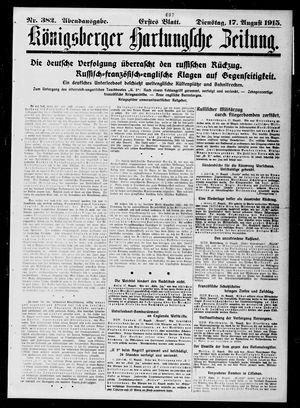 Königsberger Hartungsche Zeitung vom 17.08.1915
