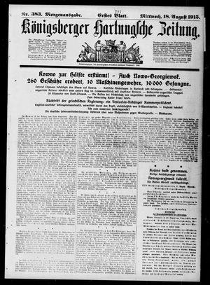 Königsberger Hartungsche Zeitung vom 18.08.1915