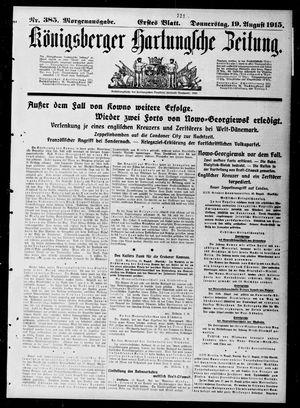 Königsberger Hartungsche Zeitung vom 19.08.1915