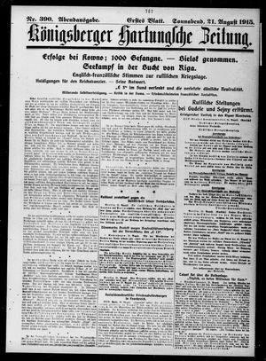 Königsberger Hartungsche Zeitung vom 21.08.1915