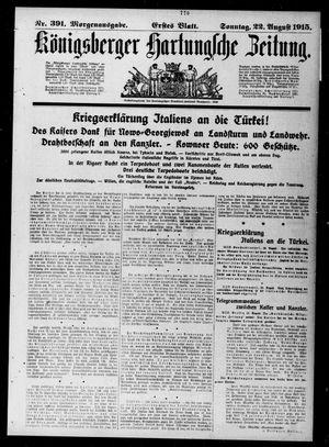 Königsberger Hartungsche Zeitung vom 22.08.1915