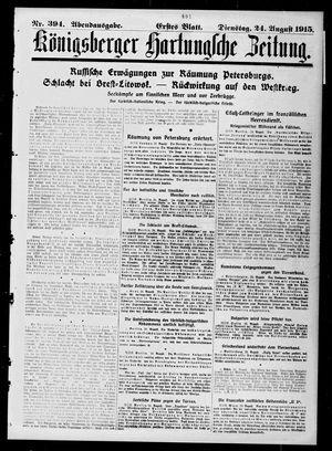 Königsberger Hartungsche Zeitung vom 24.08.1915