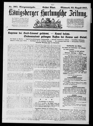 Königsberger Hartungsche Zeitung vom 25.08.1915