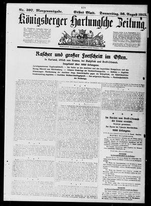 Königsberger Hartungsche Zeitung vom 26.08.1915