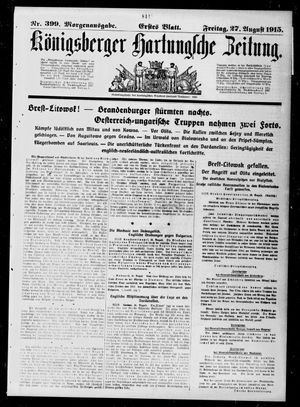 Königsberger Hartungsche Zeitung vom 27.08.1915