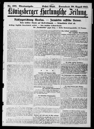 Königsberger Hartungsche Zeitung vom 28.08.1915